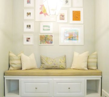 Built in Banquette from Recycled Cabinet