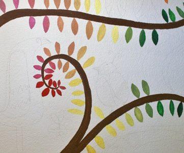 Little Leafy Tree Tops! Wall Mural