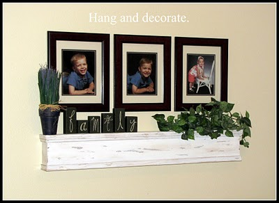 simple rustic shelf tutorial