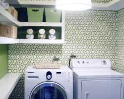 stenciled laundry room
