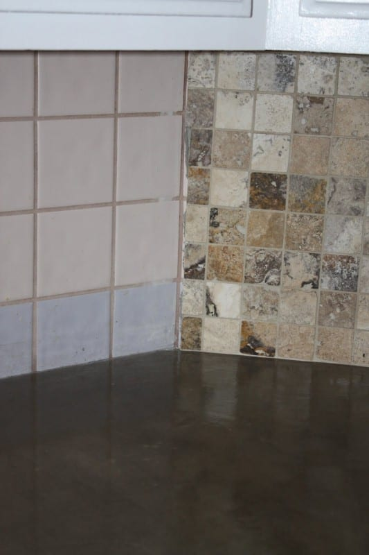 27 DIY Concrete Counter Plus New Backsplash, A DIY Tutorial, By Design Stocker Featured On @Remodelaholic