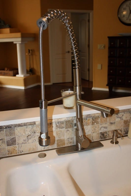 34 DIY Concrete Countertop And New Faucet, By Design Stocker Featured On @Remodelaholic