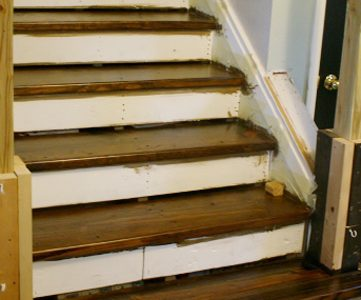 Walnut Stain… at last! Stair Update!
