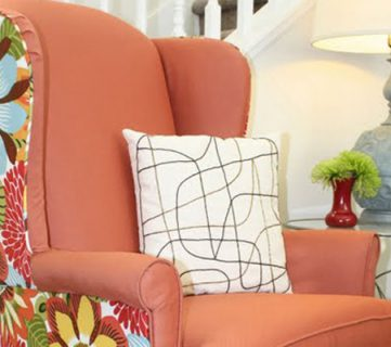 Wingback Chair Reupholstering Tutorial