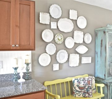 Eclectic Plate Wall Tutorial