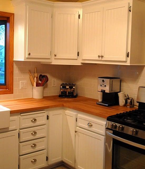 Best beadboard kitchen cabinet doors with butcher block counters