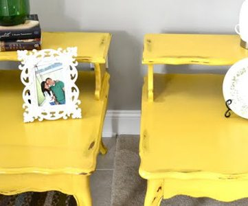 Dandelion Yellow Painted End Tables