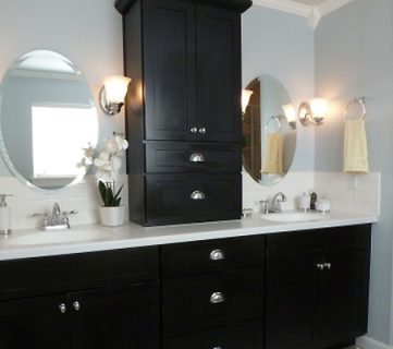Black and Blue (and BEAUTIFUL!) Bathroom Remodel