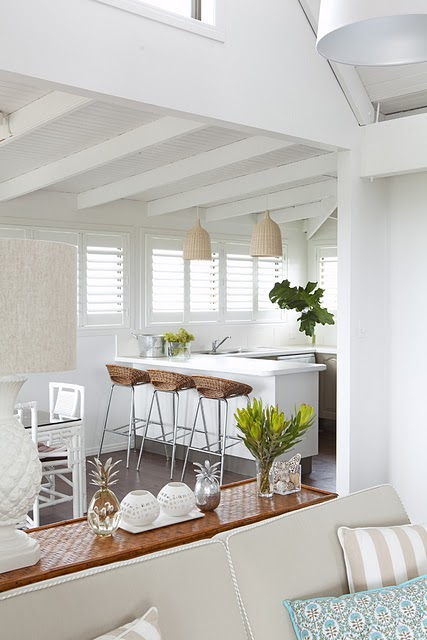 Remodelaholic Beautiful Beach House Kitchen Makeover
