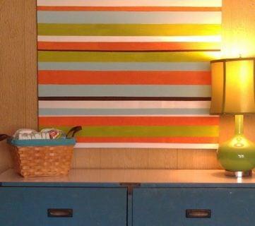 Striped Art Canvas