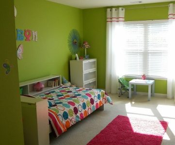 Bright and Fun Little Girls Bedroom Update!