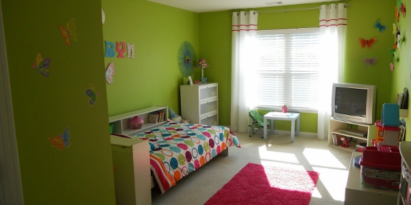Girls Bedroom Green remodelaholic | bright and fun little girls bedroom update!