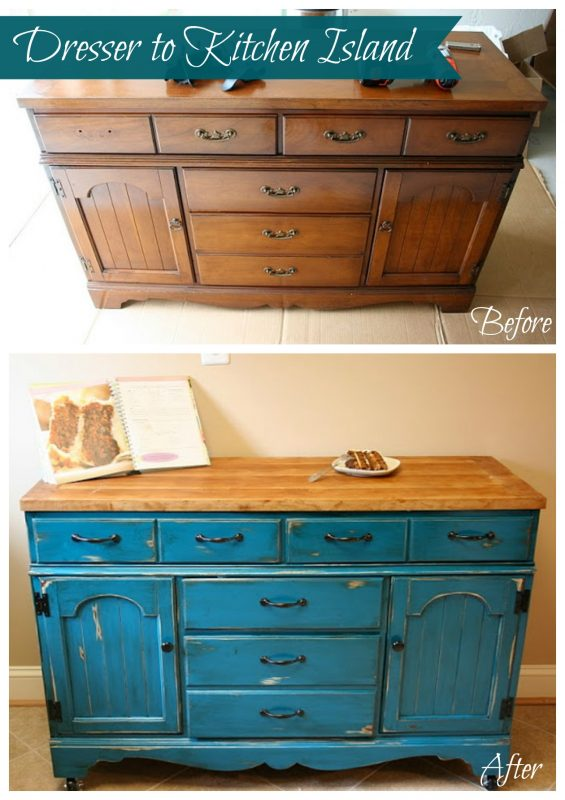 kitchen island made out of dresser how to make a kitchen island out of a dresser 9413