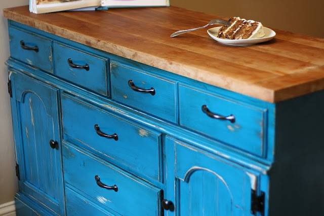 Kitchen Island Made Out Of Dresser remodelaholic | colorful dresser to kitchen island upcylce
