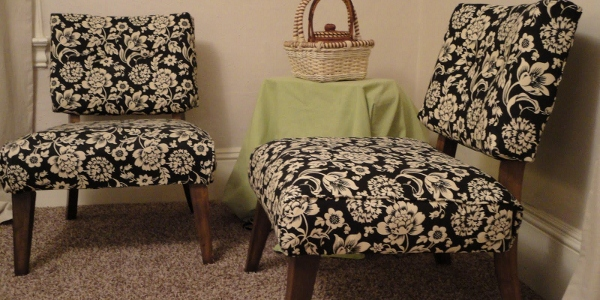 chair reupholstery black and white remodelaholic.com (600x300)