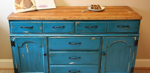 Kitchen Island From Dresser remodelaholic | colorful dresser to kitchen island upcylce