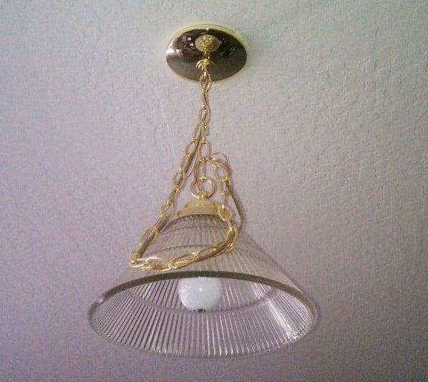 diy faux capiz chandelier 14