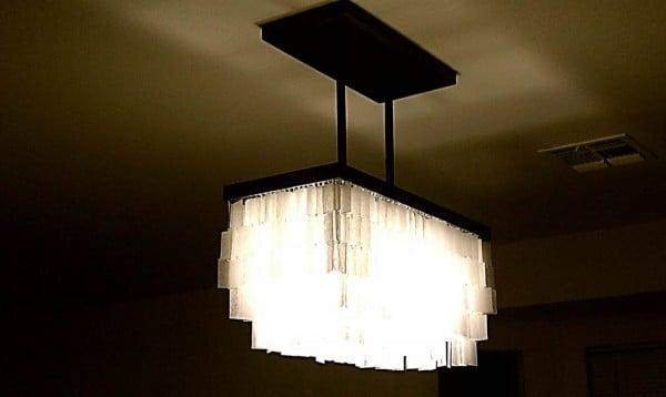 diy faux capiz chandelier 33