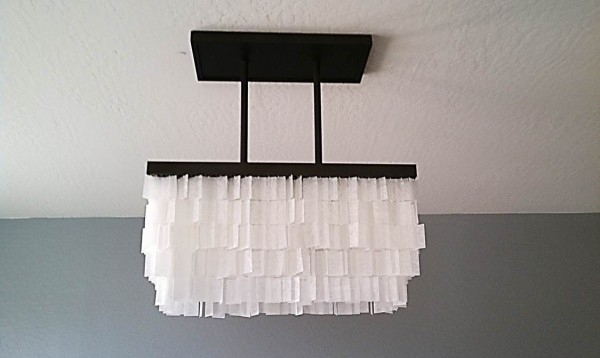 Remodelaholic beautiful faux capiz chandelier tutorial diy faux capiz chandelier tutorial aloadofball Image collections