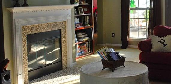 Fireplace Update! Mosaic Tiles