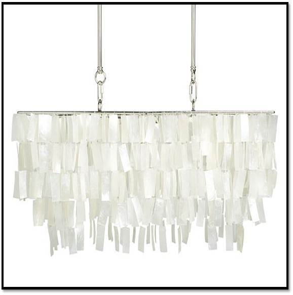 Inspiration Faux Capiz Chandelier