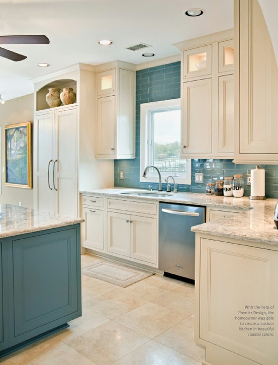 turquoise and white dream kitchen
