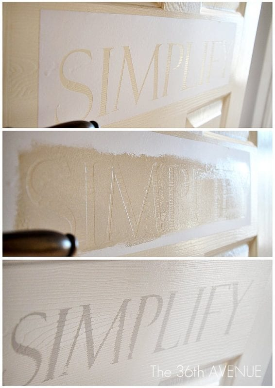 12 DIY Simplify Sign For Entryway By The 36th Avenue Featured On @Remodelaholic