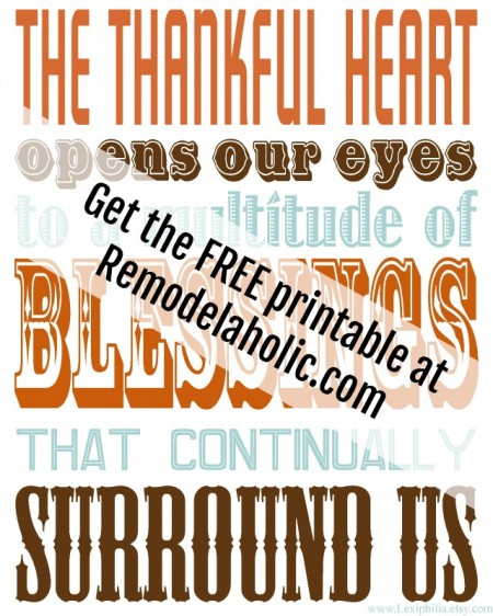 Free Thankful Subway Art Printable @Remodelaholic sm