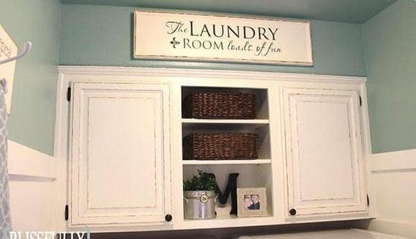 Remodelaholic | $100 Laundry Room Makeover