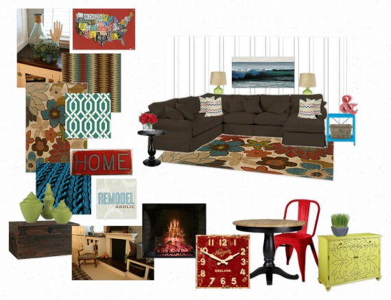 Family Room Mood Board Inspiration