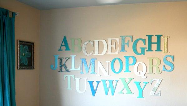 Remodelaholic Learning Her Letters Alphabet Art