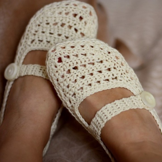 Crochet Slippers : crocheted-slipper-pattern-gift-idea
