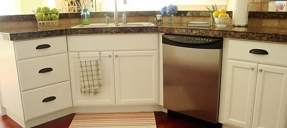 Remodel Kitchen With White Cabinets remodelaholic | wood kitchen cabinets updated to white