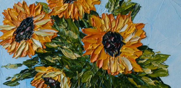 sunflower-painting