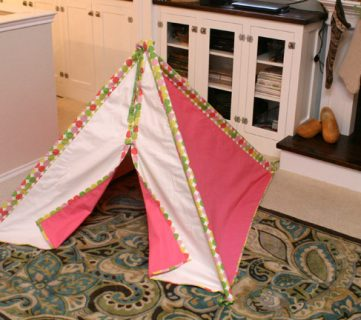 Kid's Fabric Tee-Pee Tutorial!