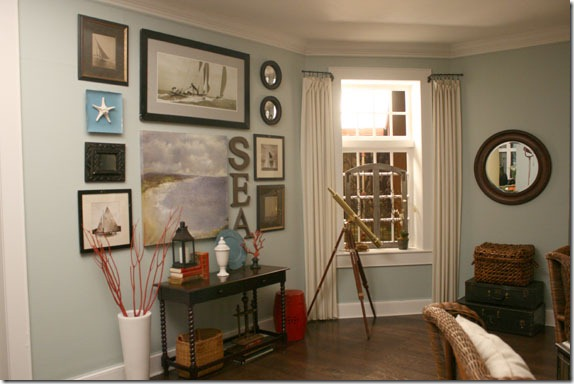 beach house themed living room before and after interior design 4