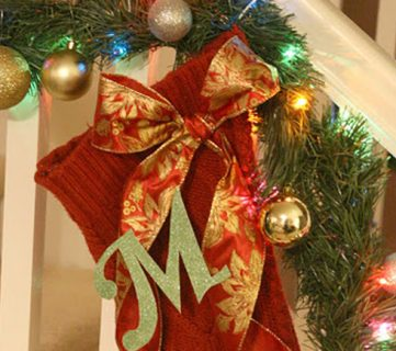 Christmas Stockings from Sweaters & Remodelaholic's Anonymous 99