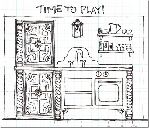 Kitchen Drawing For Kids remodelaholic | kid's cottage play kitchen