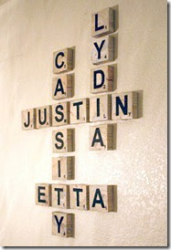 Scrabble Art, family names, game room art (2)