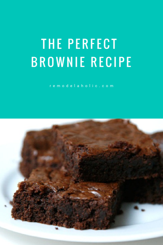 The Perfect Brownie Recipe By Remodelaholic.com #brownies #brownierecipe