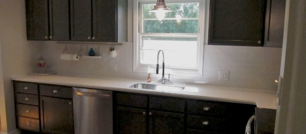 charcoal kitchen cabinets.  Remodelaholic Charcoal Grey Kitchen Cabinets