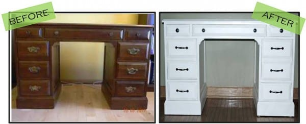 Second Hand Desk To Pottery Barn Look Alike By House Envy On Remodelaholic