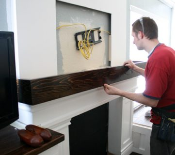 Building the Fake Fireplace 2