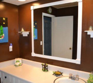 Kids' Frog Themed Bathroom Makeover