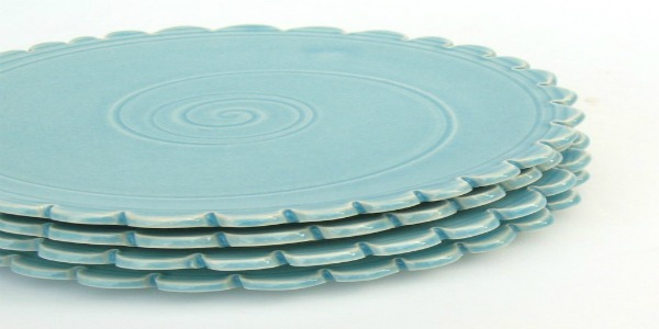 handcrafted blue ceramic plates