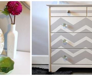 Chevron Painted Dresser Makeover