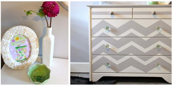 chevron painted dresser