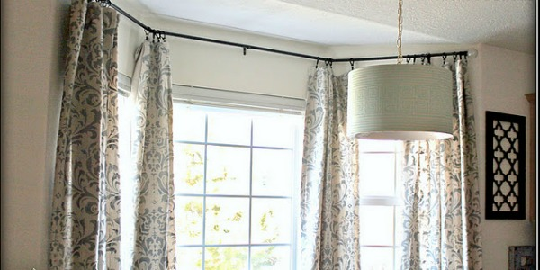 Damask Stenciled Curtain Tutorial