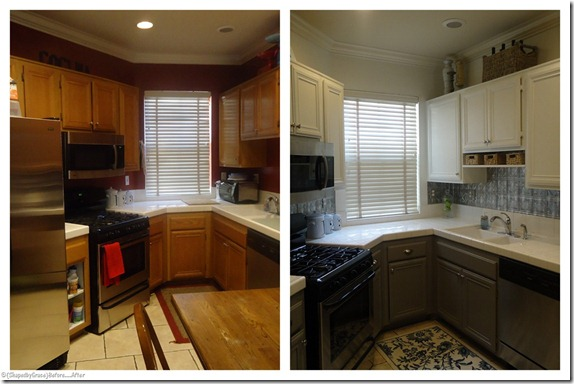 Painted Kitchen Cabinet Ideas Before And After painted kitchen cabinets before and after grey cupboards benjamin