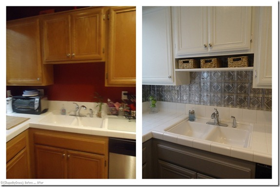 Kitchen Remodel Before And After Painted Cabinets painted kitchen cabinets before and after grey cupboards benjamin